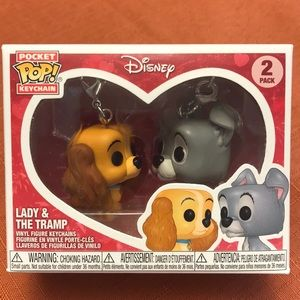 Funky Pop Pocket Keychain Lady Tramp Disney